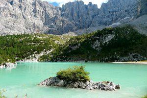 Der Sorapis See bei Cortina d'Ampezzo, Italien