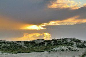 Dünen, Nordsee, Abend