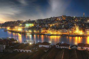 Porto, Portugal, nachts