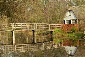 Niederlande Haus am Fluss
