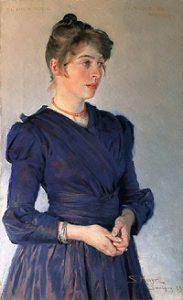 Marie im blauen Kleid